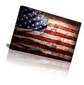 American Flag Vintage Retro Canvas Art Prints Picture Wall
