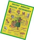 ANCIENT HAWAIIAN MUSICAL INSTRUMENTS POSTER