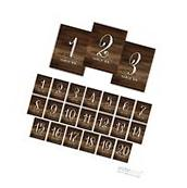 Andaz Press Table Numbers 1 - 20 on Perforated Paper, Rustic