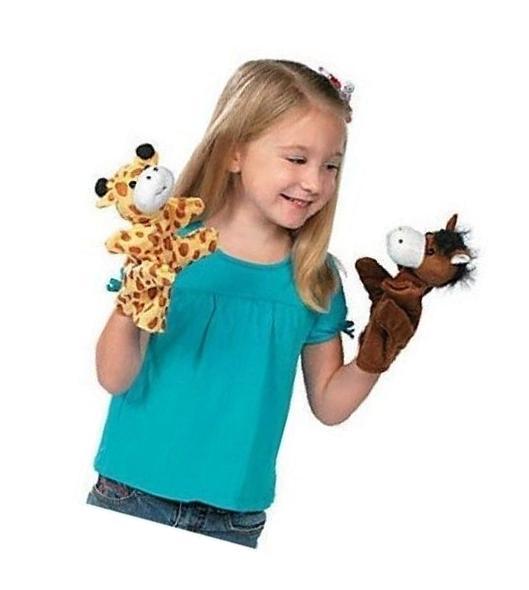 Animal Hand Puppets Monkey Cow Pig Kids Dozen Arms Legs Zoo