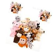 Animal Hand Puppets Child Kids Velour Educational Toy