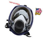 US Full Face Gas Mask Anti-dust Facepiece Respirator Paint