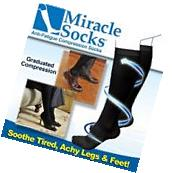 New Anti Fatigue Miracle Socks Firm Black Compression Energy