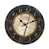 Antique Clock Wall Rustic Vintage Style Wooden Round Clocks