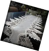 "Antique White Dresser Scarf 64"" Formal European Lace Mantel"