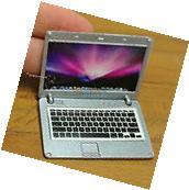 APPLE MacBook Air Logo MINIATURE DOLLHOUSE Silver LAPTOP