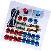 Easyget 2x LED Arcade Mame DIY Kit Parts Push Buttons +