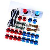Arcade MAME DIY Kit 2x LED USB Encoder + 2 Joystick + 20 Illuminated Push Button