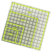 Arteza Acrylic Quilters Ruler Kit - Non-Slip - Double Grid