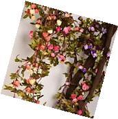Artificial Rose Garland Silk Flower Vine for Valentine Home
