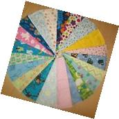 **SALE!!**Set of 10 Assorted Cloth Baby Wipes - 8in.x8in