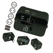 AU/UK/US/EU Universal Travel AC Power Charger Adapter Plug