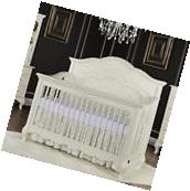 Evolur Aurora 5-in-1 Convertible Crib - Ivory Lace