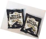 Wiley Wallaby Australian Style, Gourmet Black Liquorice Candy 2 - 5oz Bags