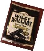Wiley Wallaby Australian Style Gourmet BLACK Licorice CANDY  Liquorice LOT of 2