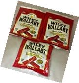 Wiley Wallaby Australian Style Gourmet Red Licorice 4 oz x 3 Bags Very Soft