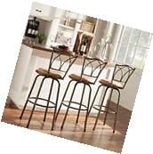 Avalon Double Cross Swivel High Back Counter Barstool by