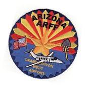 AZ Grand Canyon West Airport Arizona ARFF Fire Patch *New