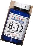 Vitamin B-12 5000mcg 200 Capsules Freshly Made Expires 2021