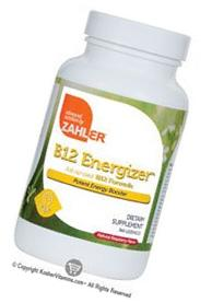 Zahlers B12 Energizer 800 mcg. Natural Raspberry Flavor -