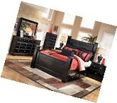 Ashley Furniture B271 Shay-Queen King Black Poster Storage