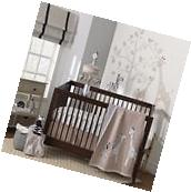Lambs & Ivy 4 Piece Baby Nursery Crib Bedding Set Regatta