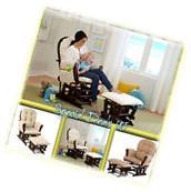 Baby Nursery Glider Rocker Rocking Chair Espresso Finish &