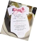Baby Shower Invitation for Girl in Shape of Onesie with Pink