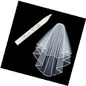 Bachelorette Party Decorations Bridal Wedding Veil with Comb