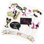 21 pcs Bachelorette Party Photo Booth Props Real Gold