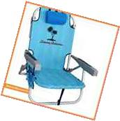 NEW TOMMY BAHAMA BACKPACK BEACH CHAIR Blue Palm