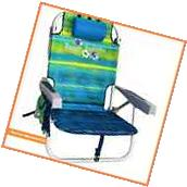 NEW TOMMY BAHAMA BACKPACK BEACH CHAIR Green Blue Stripes