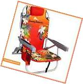 NEW TOMMY BAHAMA BACKPACK BEACH CHAIR Orange Red Floral