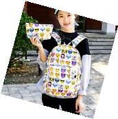 New Women's Travel Backpack Emoji Shoulder Bag School