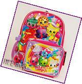 "Shopkins 16"" Large Backpack & Lunch Bag U.S.A. Book Bag"