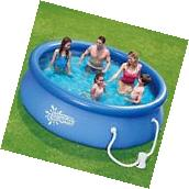 "Outdoor Backyard Swimming Pool w/Filter 10' x 30"" Quick Set"
