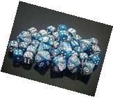 Chessex Bag of 20 Blue-Teal w/gold Gemini Polyheral Dice