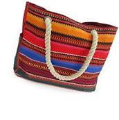 Baja Beach Bag Waterproof Canvas Tote - Large Shoulder Bag