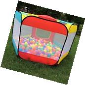 Ball Pit Play Tents for Kids 6-sided Playhouse for Children