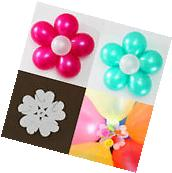 10 PCS Latex Balloon Sheet Flower Shape Clip Birthday Party