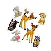 Bambi Thumper Flower Playset 7 Figure Cake Topper * USA