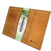 Bamboo Cutting Board Large XL Grooves Chopping Wood Kitchen