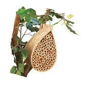 Collections Etc Bamboo Mason Bee Hive House