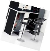 Set of 2 Bar Stool Modern Adjustable Counter Swivel Pub