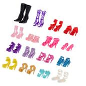 60 Pairs Barbie Doll Shoes Different High Heel Shoes Boots