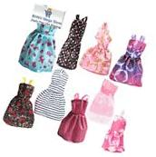 Barbie Doll Clothes Lot Rainbow Handmade Dresses Pack of 9