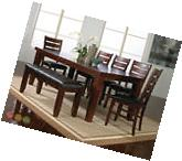 Bardstown 6 Piece Rustic Dining Room Furniture Set w/ Table