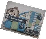 Gerber Unisex 4 Piece Bath Set and 10 Pack Washcloths NEW