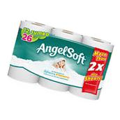 Bath Tissue Roll Angel Soft Toilet Paper 12 2-Ply Jumbo