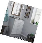 Small 24 Inch Bath Vanity Floor Cabinet Bathroom Sink 2 Door